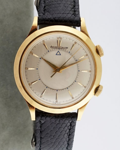 Jaeger-LeCoultre Solid 18K Gold Alarm Watch
